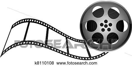 clip art of film tape k8110108 search clipart illustration