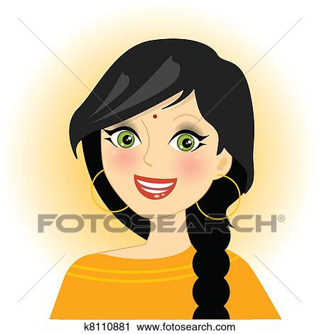 clipart of indian girl k8110881 search clip art illustration rh fotosearch com clipart indian girl clipart indian head