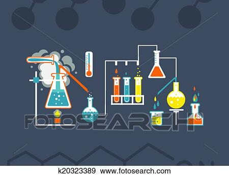 Clip Art Of Chemistry Infographics Template K20323389 - Search