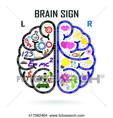 Clipart Of Left And Right Brain Symbolcreativity Signbusiness