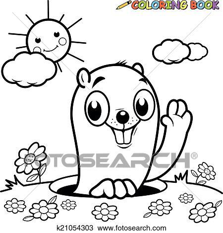 Clipart - libro colorear, marmota k21054303 - Buscar Clip Art ...
