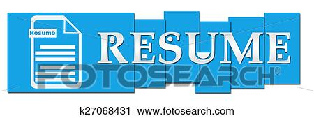 Clipart Of Resume Blue Stripes With Icon K27068431 Search Clip Art