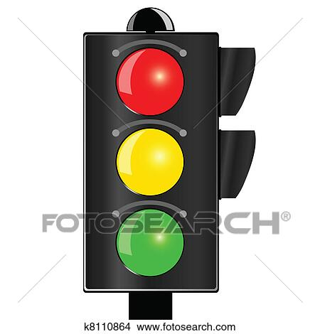 traffic light vector illustration clipart k8110864 fotosearch https www fotosearch com csp811 k8110864