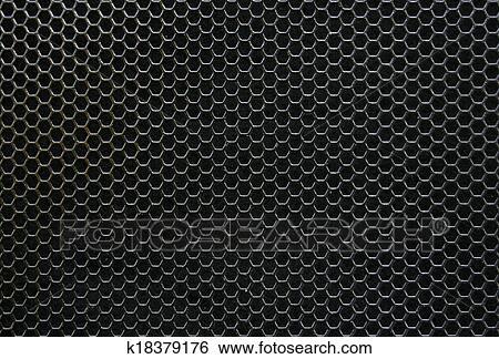 Archivio illustrazioni nero ferro esagonale texture