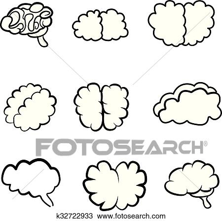 outlines of the brain clipart k32722933 fotosearch fotosearch