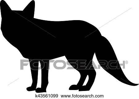 Renard silhouette clipart k43561099 - Clipart renard ...