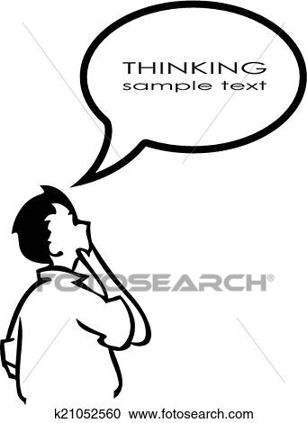 Clipart Of Thinking Person K21052560