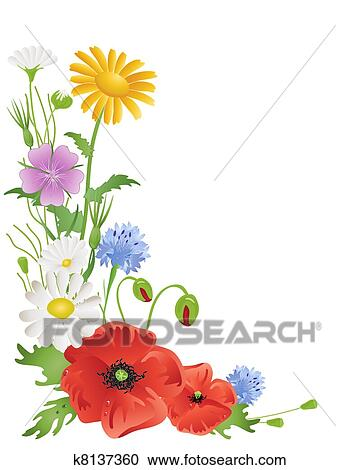 clipart of annual wildflowers k8137360 search clip art rh fotosearch com wildflower clipart download wildflower clipart download
