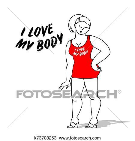 Body Positive Love Template Clipart K73708253 Fotosearch