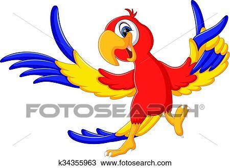 Clipart carino pappagallo cartone animato k34355963 - Cartone animato immagini immagini fantasma immagini ...