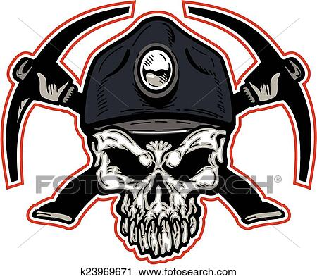 clipart of coal miner skull k23969671 search clip art rh fotosearch com coal mine clip art free coal miner clipart