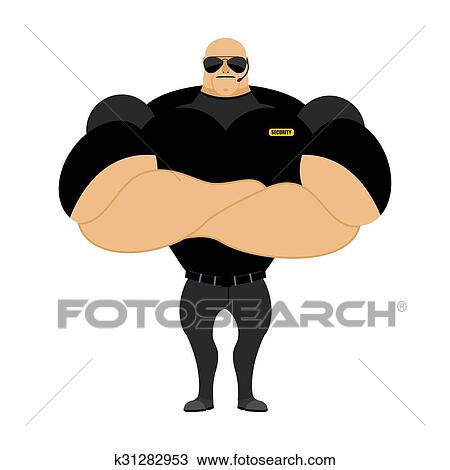 Clipart Grand Et Fort Securite Guard Homme A Grand