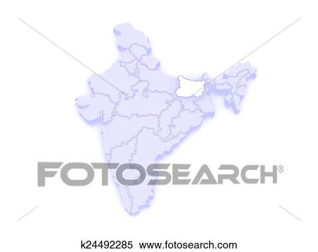 Stock Illustration Of Map Of Bihar India K24492285 Search
