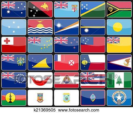 clipart elementos desenho ícones bandeiras de a países de