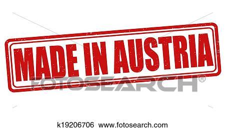 Clip Art Of Made In Austria Stamp K19206706