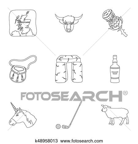 Drawing Of National Symbols Of Scotland Scottish Attractions