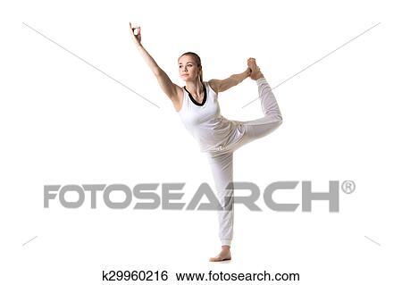 tanzen shiva joga haltung stock fotograf  k29960216