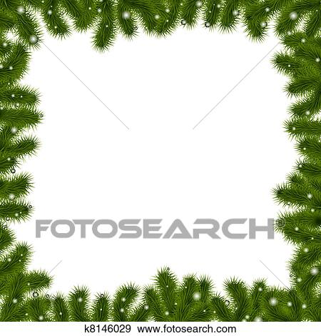 clip art xmas border with new year tree fotosearch search clipart illustration