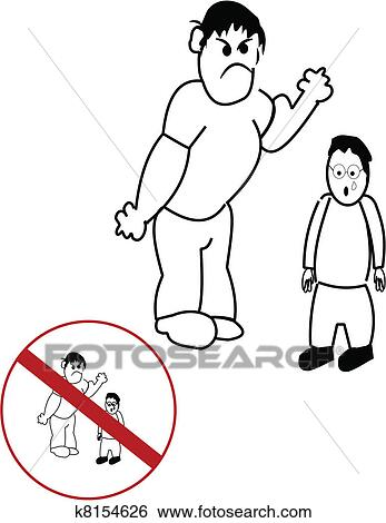 Clip Art Of Bullying K8154626 Search Clipart Illustration Posters