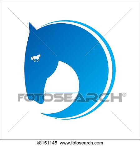 Clipart cheval symbole vecteur k8151145 recherchez des clip arts des illustrations des - Clipart cheval ...