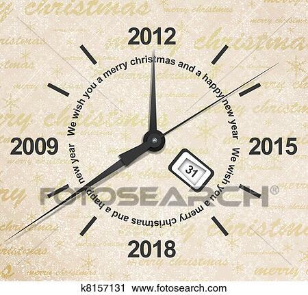 clipart countdown of new year fotosearch search clip art illustration murals