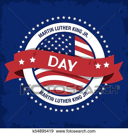 Martin luther king JR day Clip Art | k54895419 | Fotosearch