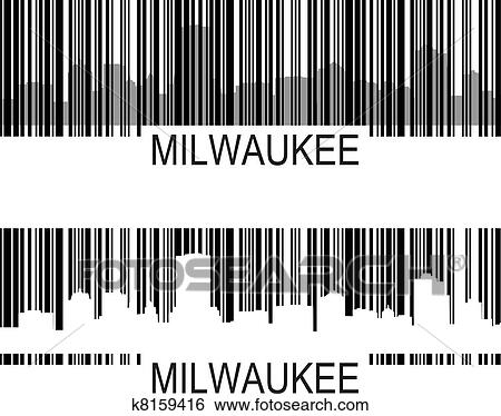 clip art of milwaukee barcode k8159416 search clipart