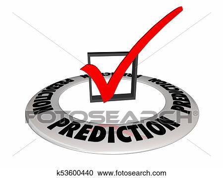 Prediction Guess Estimate Future Check Box Mark 3d Illustration