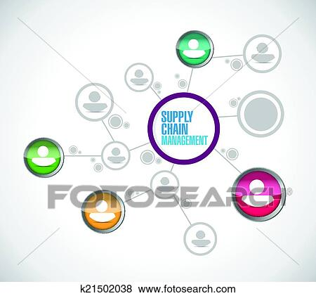 Clip Art Of Supply Chain Management Network Connection K21502038