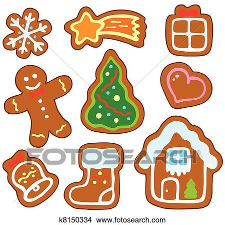 clipart weihnachten lebkuchen sammlung 1 k8150334. Black Bedroom Furniture Sets. Home Design Ideas