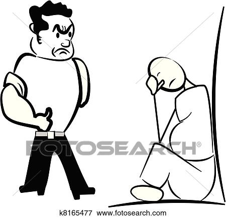 clip art of bully with overweight boy k8165477 search clipart rh fotosearch com bully clipart images bully clipart free
