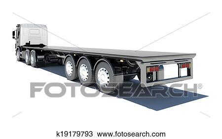 Dessin camion semi remorque plate forme k19179793 - Dessin de camion semi remorque ...