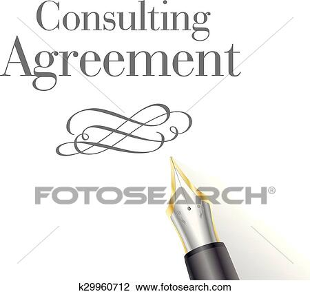 Clipart Of Consulting Agreement K29960712 Search Clip Art