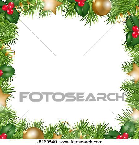 clipart frohe weihnacht umrandungen k8160540 suche. Black Bedroom Furniture Sets. Home Design Ideas