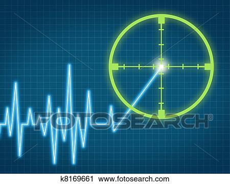 Clipart Of Price Target K8169661 Search Clip Art Illustration