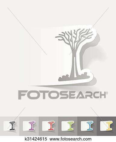 Realistic Design Element Singapore Tree Clipart K31424615
