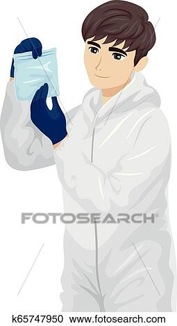 Teen Boy Forensic Science Evidence Illustration Clipart K65747950 Fotosearch