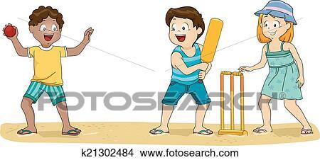 Cricket Kids Clipart | k21302484 | Fotosearch