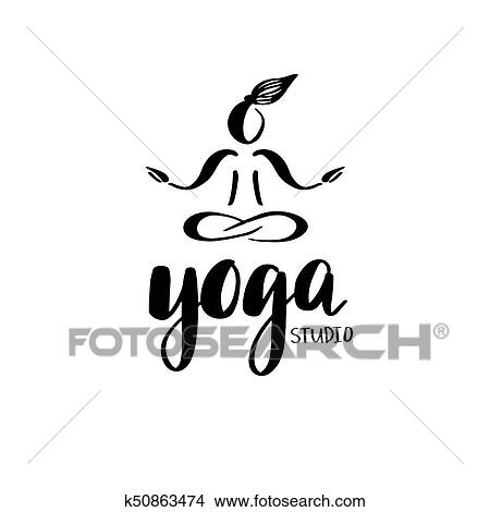 Logo For Yoga Studio Or Meditation Class Clipart K50863474 Fotosearch