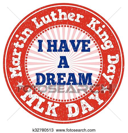 Clipart Of Martin Luther King Day Stamp K32780513 Search Clip Art