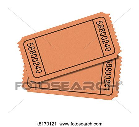 Admit One Blank Movie Tickets Isolated On White Background Representing Two Stubs For Show Business To Enter And The Cinematic Theater Entrance Fee Go