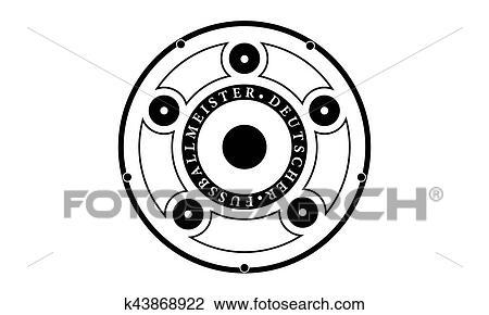 Clip Art Of Pictogram German Soccer League Trophy Piktogramm