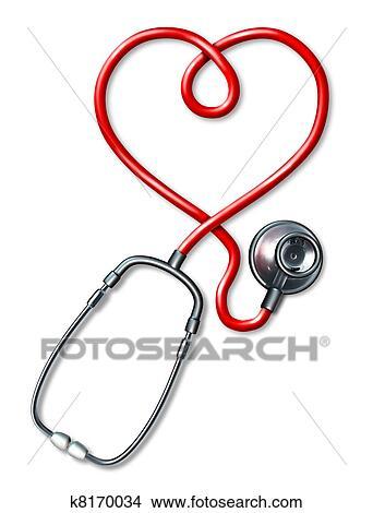Dessin Stéthoscope dessins - stéthoscope, coeur k8170034 - recherche de clip arts, d