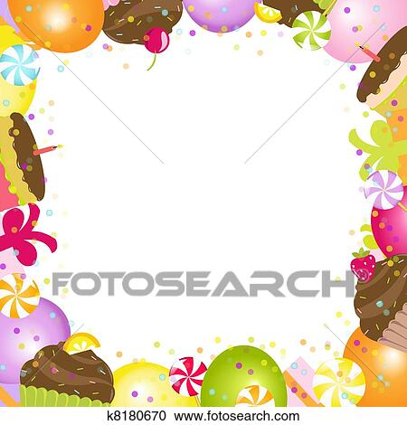 Clipart of Birthday Frame k8180670 - Search Clip Art, Illustration ...