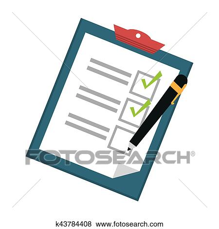 checklist on clipboard icon image vector illustration design