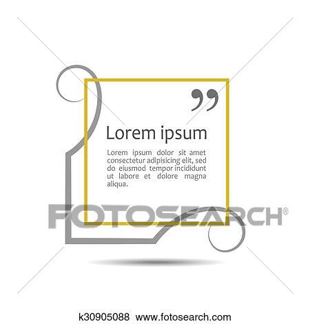 Clip Art - citación, texto, box., marco, para, decoración, cita, y ...