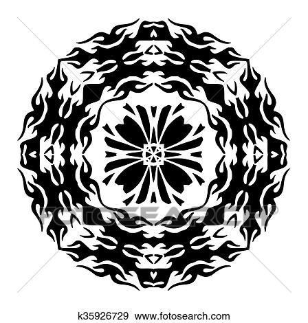 Clip Art Floral Plantilla Para Tatuaje Y Design Floral