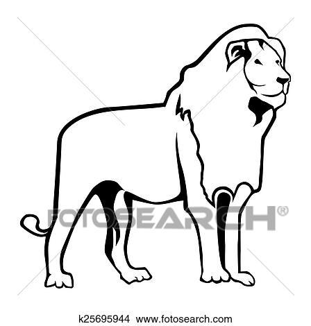Lion Outline Clipart K25695944 Fotosearch Outline lion clip vectors and psd free download. lion outline clipart k25695944