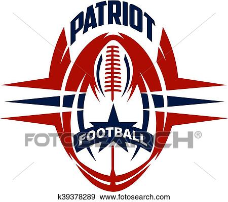 clip art of patriot football k39378289 search clipart rh fotosearch com patriotic clip art background patriotic clipart black and white