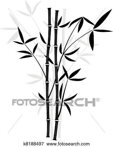 Clip Art Vektor Bambus K8188497 Suche Clipart Poster